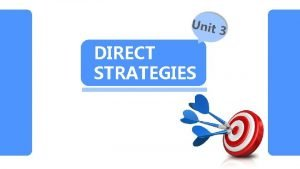 DIRECT STRATEGIES ONTEN Memory Strategies A Cognitive Strategies