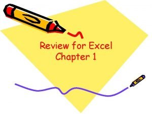 Review for Excel Chapter 1 True or False
