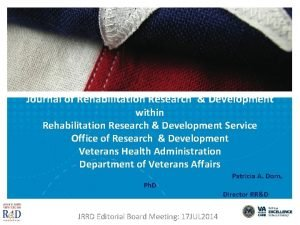 Journal of Rehabilitation Research Development within Rehabilitation Research