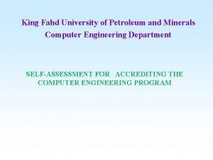 King Fahd University of Petroleum and Minerals Computer