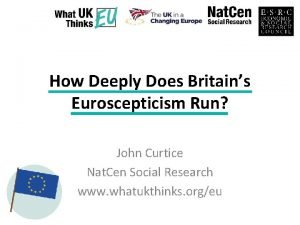 How Deeply Does Britains Euroscepticism Run John Curtice