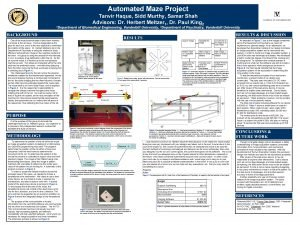 Automated Maze Project 1 Department Tanvir Haque Sidd