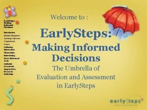Early Steps Making Informed Decisions Introduction Module Navigation