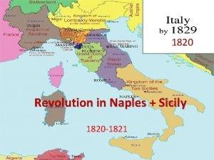 1820 Revolution in Naples Sicily 1820 1821 Naples
