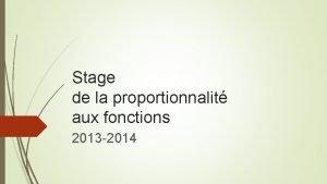 Stage de la proportionnalit aux fonctions 2013 2014