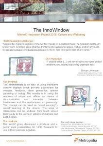 The Inno Window Minno Innovation Project 2015 Culture
