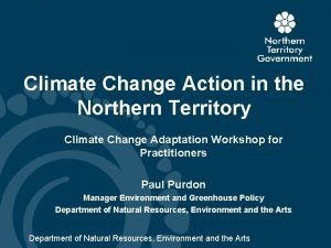 Climate Change Action in the Northern Territory Climate