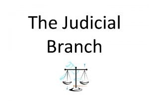 The Judicial Branch Federal Court Structure U S