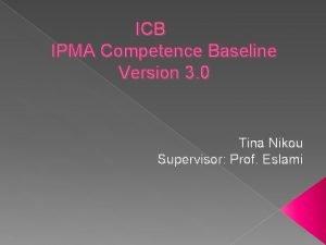 ICB IPMA Competence Baseline Version 3 0 Tina