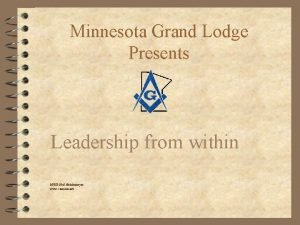 Minnesota Grand Lodge Presents Leadership from within MWB