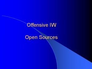 Offensive IW Open Sources Reading List Open Source