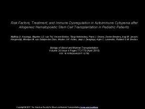 Risk Factors Treatment and Immune Dysregulation in Autoimmune