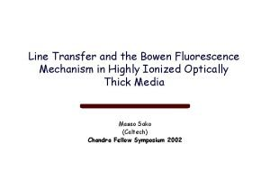 Line Transfer and the Bowen Fluorescence Mechanism in