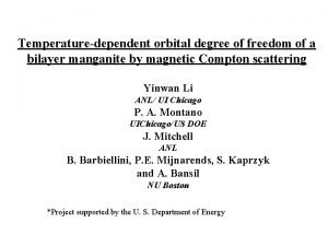 Temperaturedependent orbital degree of freedom of a bilayer