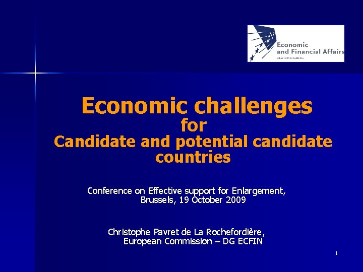 Economic challenges for Candidate and potential candidate countries