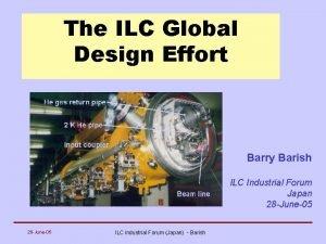 The ILC Global Design Effort Barry Barish ILC