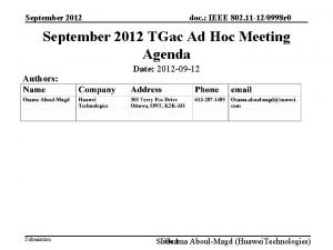 September 2012 doc IEEE 802 11 120998 r