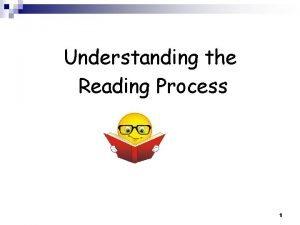 Understanding the Reading Process 1 Understanding the Reading