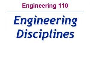 Engineering 110 Engineering Disciplines AeronauticalAerospace Engineering A Sub