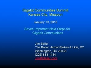 Gigabit Communities Summit Kansas City Missouri January 13