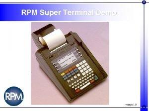 RPM Super Terminal Demo version 1 0 RPM