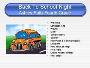 Back To School Night Ashley Falls Fourth Grade