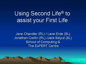 Life Using Second to assist your First Life