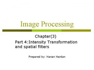 Image Processing Chapter3 Part 4 Intensity Transformation and