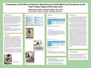 Comparison of the Effect of Dynamic Stretching and