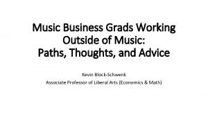 Music Business Grads Working Outside of Music Paths