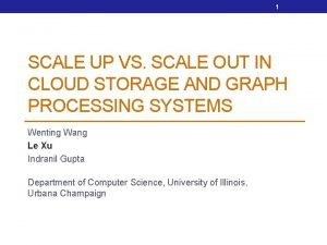 1 SCALE UP VS SCALE OUT IN CLOUD