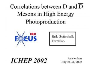 Correlations between D and D Mesons in High