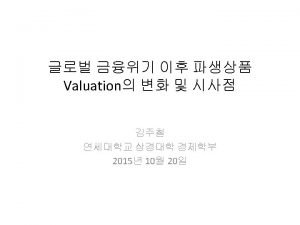 Introduction Valuation Adjustments CVA Credit Valuation Adjustment Bilateral