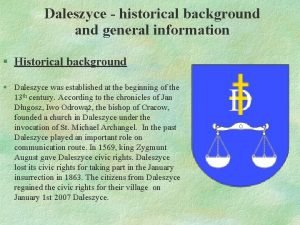 Daleszyce historical background and general information Historical background