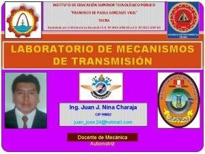 INSTITUTO DE EDUCACIN SUPERIOR TECNOLGICO PBLICO FRANCISCO DE