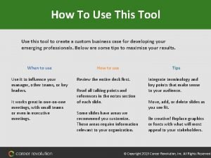 How To Use This Tool Use this tool