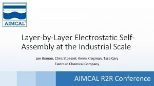 LayerbyLayer Electrostatic Self Assembly at the Industrial Scale