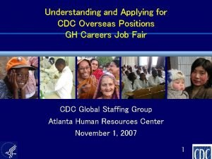 Understanding and Applying for CDC Overseas Positions GH