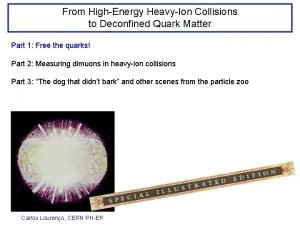 From HighEnergy HeavyIon Collisions to Deconfined Quark Matter