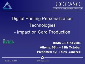 Digital Printing Personalization Technologies Impact on Card Production