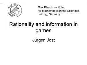 Max Planck Institute for Mathematics in the Sciences