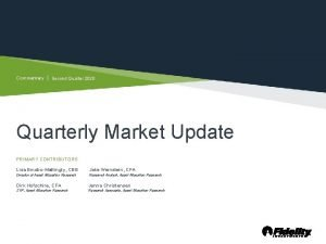Commentary Second Quarter 2020 Quarterly Market Update PRIMARY