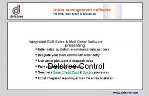 order management software for web mail order b