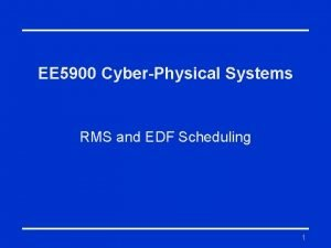 EE 5900 CyberPhysical Systems RMS and EDF Scheduling