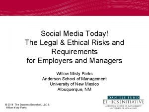 Social Media Today The Legal Ethical Risks and