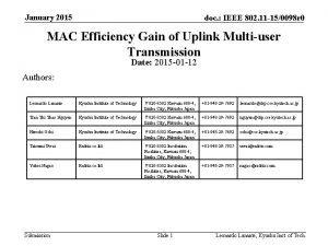 January 2015 doc IEEE 802 11 150098 r