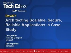 Dev 371 Architecting Scalable Secure Reliable Applications a