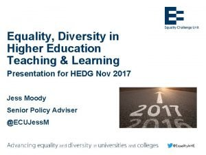 Equality Diversity in Higher Education Teaching Learning Presentation
