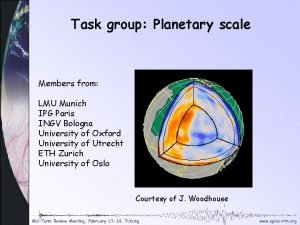 Task group Planetary scale Members from LMU Munich