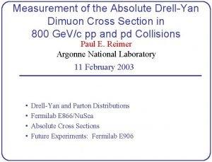 Measurement of the Absolute DrellYan Dimuon Cross Section